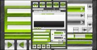वेब डिजाइन सजावटी क्रिस्टल सामग्री वेक्टर शैली चिह्न