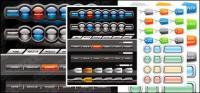 Halaman navigasi bar menu tombol vektor bahan