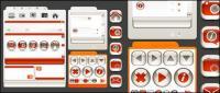 Icono de estilo Web diseño cristal decorativo material de vectores
