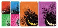 Halloween tarjetas vector material