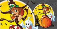 Matériau illustration de Halloween élément vectoriel