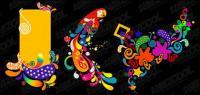 тенденция цвета векторных графических материалов