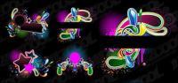 Neon style trend vector