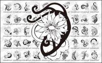 Les patrons de fleur vecteur Totem matériel-2
