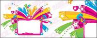 Material de colorido tablón de anuncios de vectores
