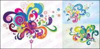 Éléments colorés du vecteur tendance