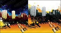 The trend of urban vector illustration material