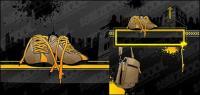 sapatos e material de saco