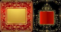 豪華なゴールデン レース パターン ベクトル材料