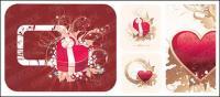 Heart-shaped Muster mit dem Muster-Vektor-material