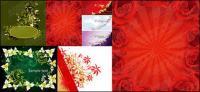 material de vectores de moda flor exquisita patrón