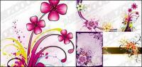 material de vetor de padrão de bela flor