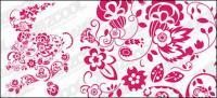 中国のペーパー カット スタイル パターン ベクトル