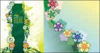 Flores precioso elemento vector de material
