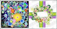 カラフルな花のベクトル