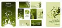 Vector de patrón de plantilla de tarjeta de moda