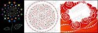 Vector de patrón de flor delicada