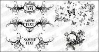 Material de vector de patrones en blanco y negro