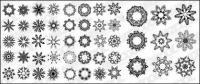 Varios materiales de vector de patrón circular
