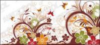 Material de patrón y el vector de la hermosa mariposa