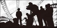 Thema der Film Zeichen Zeichnung-Vektor-material
