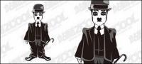 Material de vector de Chaplin