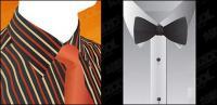 Material de camisa y corbata de vectores