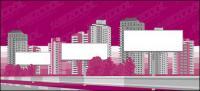 Matériau vecteur de ville construction billboard vierge