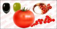 material de vetor de frutas e produtos hortícolas