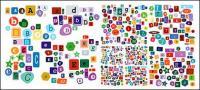 Letras del alfabeto vector de material