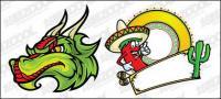 メキシコの漫画のスタイルのベクトル