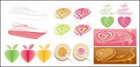 Розовый серии векторных графических материалов