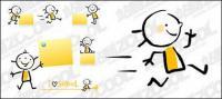 El material precioso papel de niños y notas de vector
