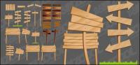 Vecteur de panneaux de bois-grain flèche matériel