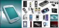 CDR формат материала вектор мобильного телефона