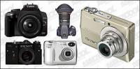 câmeras digitais vector material