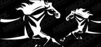 Material de caballos de vectores
