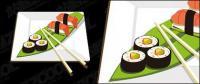 Un vecteur de sushi