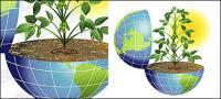 La vitalidad de los materiales de vectores de tierra
