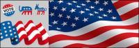Matériau de drapeau américain