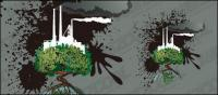 Contaminados ilustración vectorial material de la tierra