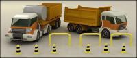 รูปภาพ 3 มิติบริษัทขนส่งวัสดุ
