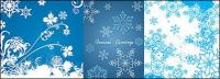 snowflakes สีน้ำเงิน vector วัสดุพื้นหลัง