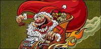 Matériau de Noël vieux fou
