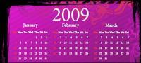 2009 Календарь модели векторного материала