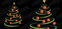 ทรงกลมประกอบด้วยบรรทัดและวัสดุเวกเตอร์คริสต์มาส