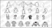 Vá material de tendência vector do Media produção tendência da moda em branco Set13