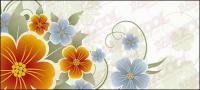 Matériau de vecteurs de fleurs jaunes et bleus