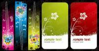 Banner de patrón de mariposa con las flores de moda