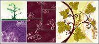 patrones de flor de vectores de material vegetal